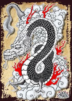 Japanese Dragon by tenshiflyers on DeviantArt