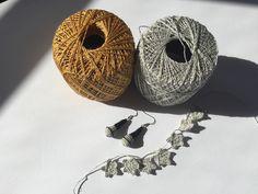 Microphone earrings made crochet thread! Thread Crochet, Crochet Earrings, Workshop, My Etsy Shop, Patterns, Atelier, Block Prints, Crochet Yarn, Chrochet