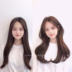 Korean Hairstyles Women, Redhead Hairstyles, Undercut Hairstyles, Japanese Hairstyles, Asian Hairstyles, Side Fringe Hairstyles, Hairstyles With Bangs, Pretty Hairstyles, Face Framing Bangs