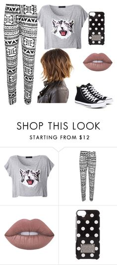 """""""Brinley"""" by trinitymahomie on Polyvore featuring WearAll, Lime Crime, MICHAEL Michael Kors and Converse"""