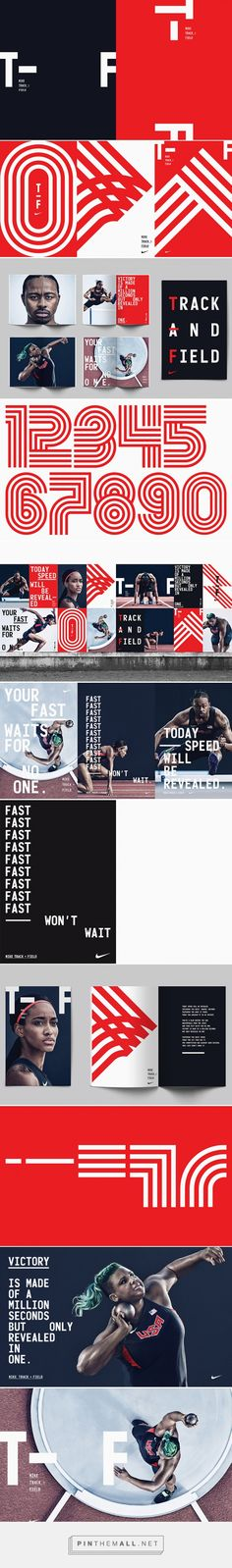 It's Nice That   Build and the Nike brand team creates bold branding for Nike's Track and Field line - created via https://pinthemall.net
