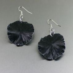 Black Anodized Aluminum Lily Pad Earrings – Medium