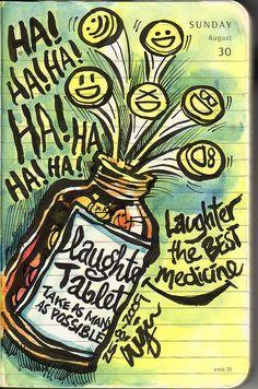 Dr. S. verschreibt 3x täglich laughter tabletts - nach Bedarf und ohne Nebenwirkungen. Wünsche Dir weiterhin gute Besserung und eine gute Woche......... LG Susie