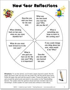 New Years Reflections teambuilder freebie from the January Activities Mini Pack. Terrific activity to use when students return to school after the winter holidays.