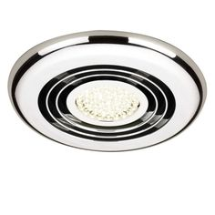Rapide Inline Ceiling Extractor Fan With LED Lighting   Chrome | Bathstore