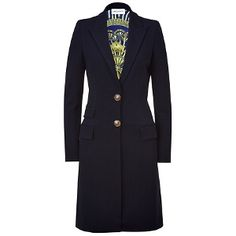 Beautiful lining (Emilio Pucci Navy Jersey Coat - 30% off)