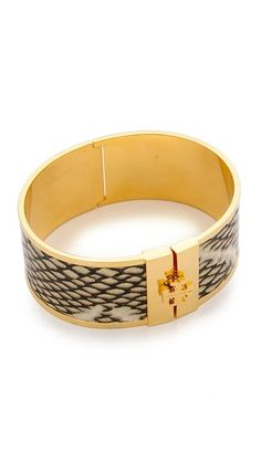 Tory Burch Skinny Leather Inlay Bracelet