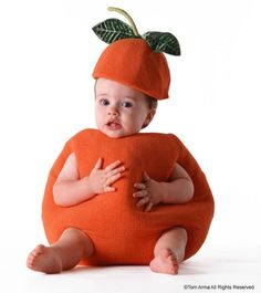 Baby fruit photo idea, orange
