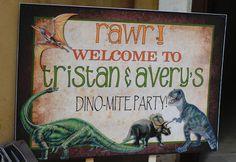 Fun welcome sign