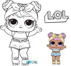 Colora Lol Surprise Bon Bon e la sua Lil - Cartoni animati Barbie Coloring Pages, Coloring Pages For Girls, Cool Coloring Pages, Coloring Pages To Print, Coloring Sheets, Coloring Books, Lol Dolls, Cute Dolls, Doll Drawing