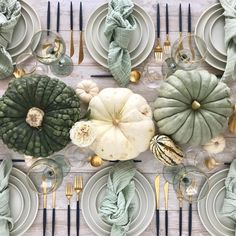 Give your home a stylish makeover with white pumpkins for the upcoming Thanksgiving festival. Check out chic and classy white pumpkin décor ideas here. Pumpkin Table Decorations, Pumpkin Centerpieces, Pumpkin Decorating, Decoration Table, Table Centerpieces, Holiday Decorations, Holiday Ideas, Holiday Themes, Seasonal Decor