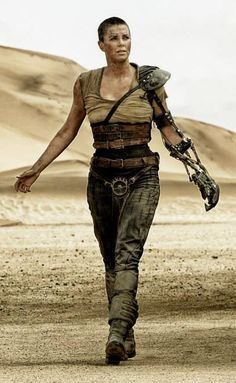charlize theron mad max full body with mechanical arm - .....Uploaded By  www.1stand2ndtimearound.etsy.com