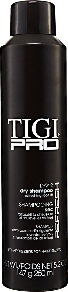 TIGI Pro Day 2 Dry Shampoo is a dry shampoo that instantly refreshes hair between washes. Smells great!