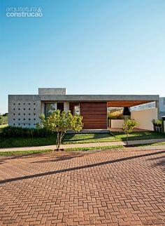 Fachada de casa moderna de un piso fachadas de casas for Casa moderna in moldova