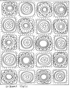 20 Blooms http://www.karlagerard.com/ would be fun to draw & color a page like this