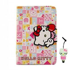 TFS Cute Hello Kitty Flip Wallet PU Leather Case for Apple iPad iPad 6 (With Kickstand and Magnetic Sleep/Wake Function) with Hello Kitty Style Anti Dust Stylus Pen Leather Case, Pu Leather, Ipad Air 2 Cases, Stylus, Apple Ipad, Hello Kitty, Sleep, Wallet, Iphone