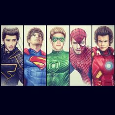 1D superheroes series. Double tap your favorite!  @onedirection