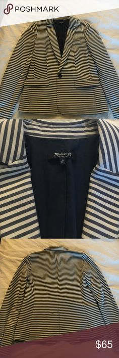 NWOT Madewell Stripes Blazer Never worn! No flaws. Price is firm. No trade please. Madewell Jackets & Coats Blazers