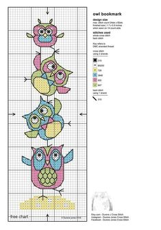 counted cross stitch for beginners Cross Stitch Owl, Cross Stitch Bookmarks, Cross Stitch Books, Cross Stitch Animals, Counted Cross Stitch Patterns, Cross Stitch Charts, Cross Stitch Designs, Cross Stitching, Cross Stitch Embroidery