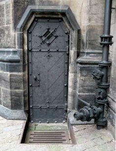 """Black Back Door to St.Vitus Cathedral"" Prague, Czech Republic"