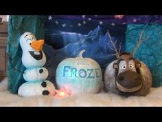 Halloween Pumpkin Display at Disney's Old Key West Resort - Includes Frozen's Olaf & Sven; Ariel