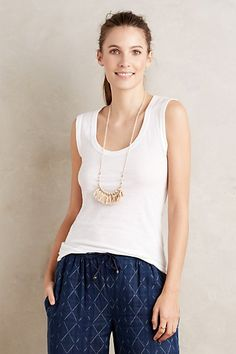 Wide-Strap Tank - anthropologie, I like the pink color