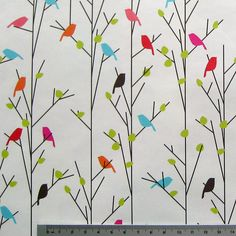 Abstract Birds On Trees - Patterned Paper by Kasaa, via Flickr