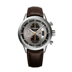 RAYMOND WEIL Genève > Freelancer Mens Watches - Automatic chronograph Titanium on brown leather strap Swiss Luxury Watches, Luxury Watches For Men, Brown Leather Strap Watch, Black Leather, Titanium Watches, Raymond Weil, Fine Watches, Women's Watches, Automatic Watch