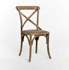 Limed grey oak French cafe chair from Bridge Furniture & Props, LLC. $125.