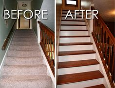 Inspiration to do hardwood on the stairs.
