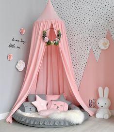 Baby Bedroom, Nursery Room, Girl Nursery, Girls Bedroom, Bedroom Decor, Child's Room, Girl Bedroom Designs, Cozy Corner, Little Girl Rooms