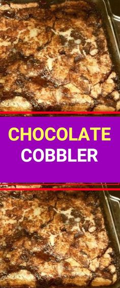 CHOCOLATE COBBLER  Ingredients:  serves 8     	6 tablespoons butter, melted   	1 3/4 cups sugar, divided   	1 cup flour   	1-1/2 tsp baking powder   	1/2 tsp salt   	1/2 cup whole milk   	6 Tbsp unsweetened cocoa powder, divided   	1 teaspoon vanilla No Cook Desserts, Sweets Recipes, Pie Recipes, Just Desserts, Delicious Desserts, Chocolate Cobbler, Chocolate Desserts, Chocolate Chips, Fruit Pie
