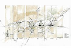 """Dan Slavinsky: The Axes of Soft Ornament  """"A diagrammatic representation of how the 'vagrant' geometries of autonomous Living Technologies would interact within the traditional 'ordered' geometries of a Georgian House""""  http://findingslav.blogspot.com/"""