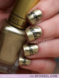 Amazing Lord of the Rings nail design! Great for the Tolkienites in your life!