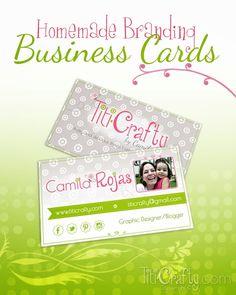 Homemade Branding Business Cards