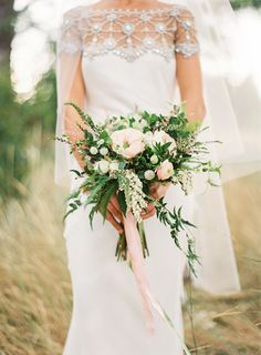 Sarah's bouquet featured on Once Wed
