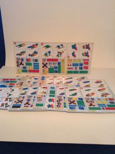 Lot Of 20 Lego Model Cards Race To Build Replacement Parts Pieces #Lego