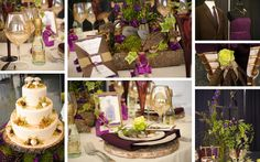 Purple and Green Nature wedding theme examples! LOVE!
