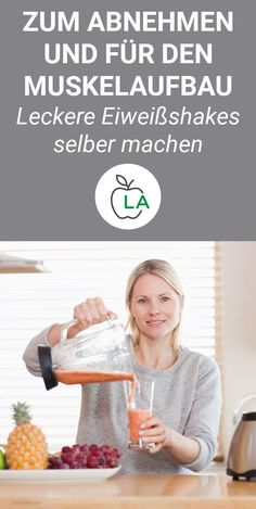 Eiweißshake selber machen – 7 Rezepte zum Abnehmen und für den Muskelaufbau Do the protein shake yourself and thereby lose weight or drive muscle gain? No problem! We show you 7 protein shake recipes that you can prepare yourself without powder. Loose Weight, How To Lose Weight Fast, Losing Weight, Fitness Meal Prep, Best Protein Shakes, Protein Smoothie Recipes, Smoothies, Speed Up Metabolism, Weight Loss Detox