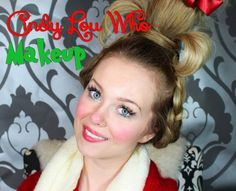 Cindy Lou Who (The Grinch Who Stole Christmas) Makeup Tutorial! - Cindy Lou Who (The Grinch Who Stole Christmas) Makeup Tutorial! Grinch Christmas Party, Grinch Who Stole Christmas, Christmas Makeup, Christmas Parties, Grinch Party, Preschool Christmas, Christmas 2017, Christmas Decor, Cindy Lou Who Hair