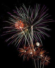 Penny Lisowski - Looks Like Flowers - Fireworks and Moon