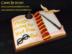 Harry Potter Baby Shower Cake   Cake By Cakes By Kristi