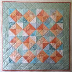 https://www.etsy.com/listing/189161202/summer-peach-color-quiltbaby-blanketwall | Flickr - Photo Sharing!