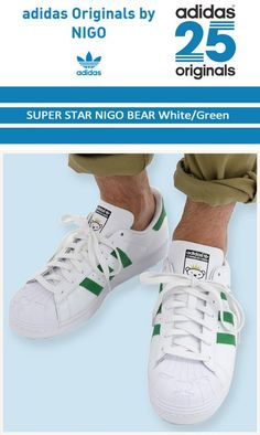 promo code 92731 51bfb adidas SUPERSTAR Bear nigo White Green S83385 Mens Shoes Sneakers Casual  Shoes