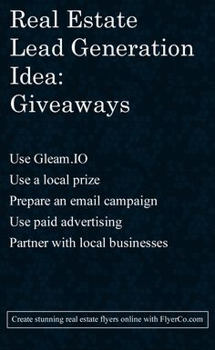 real estate giveaway