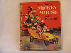 A Little Golden Book 1971 Mickey Mouse and Pluto Pup by Walt Disney