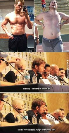 Chris Pratt Explains how he lost 40 lbs for Guardians of the Galaxy.