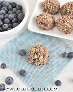 Blueberry Muffin Bites - a healthy snack you can make in minutes!