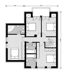 Proiecte de case mici cu mansarda. Locuinte de vis, fara risipa de bani Design Case, Floor Plans, House Styles, Modern, Buget, Home Decor, Mica, Imaginary Friends, Google