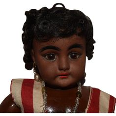 Simon & Halbig Brown German Bisque Head Doll Mold 739 from joan-lynetteantiquedolls on Ruby Lane